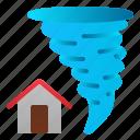 catastrophe, danger, destruction, disaster, house, nature, tornado