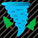 catastrophe, danger, destruction, disaster, nature, tornado, tree