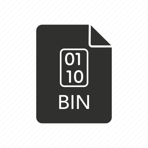 bin, bin disc, binary, binary disc icon