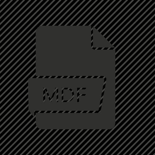 file, mdf, mdf icon, media disc image icon