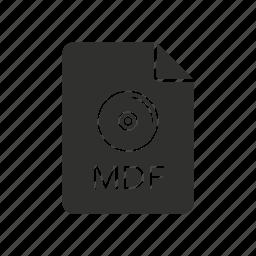 mdf, mdf icon, media disc image, media disc image file icon