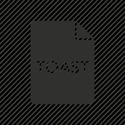 file, toast, toast disc image file, toast image icon