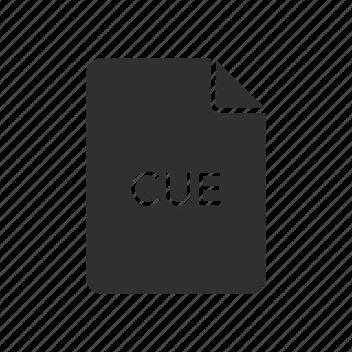 cue, cue icon, cue sheet file, sheet icon