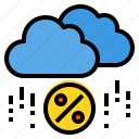 cloud, discount, money, online, percentage, sale, shopping icon