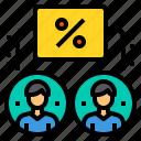company, discount, money, percentage, sale, shopping icon