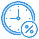 discount, money, percentage, sale, shopping, time icon