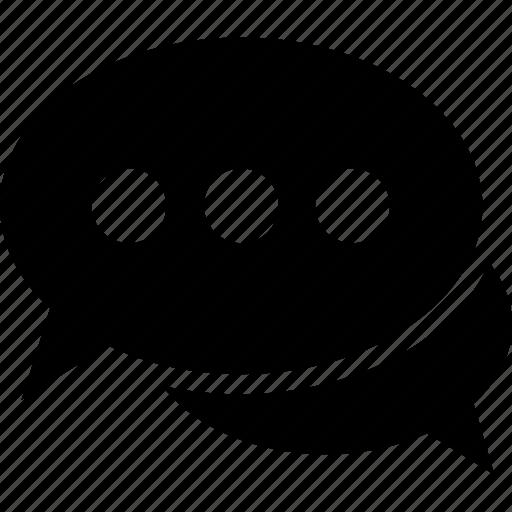 chat bubble, chat sign, chit chat, conversation, speech bubble icon