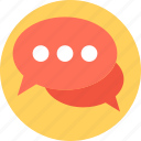 chat bubble, chat sign, chit chat, conversation, speech bubble icon