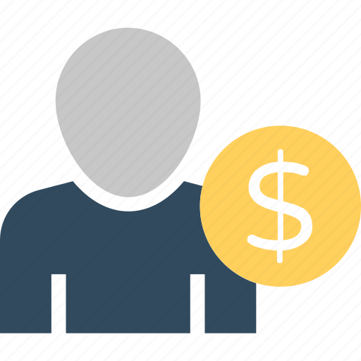 businessman, dollar man, industrialist, investor, salesman icon