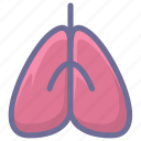 internal organs, life, lung icon