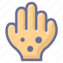 bacterial, health, measles icon