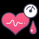 medical, pressure, hypertension, heart, health, blood, pulse icon