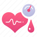 blood, health, heart, hypertension, measurement, pressure, pulse icon