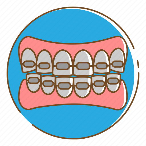 Braces, dental, healthcare, medical, teeth icon - Download on Iconfinder