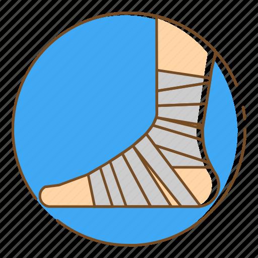 Bandage, foot bandage, healthcare, injury, medical icon - Download on Iconfinder