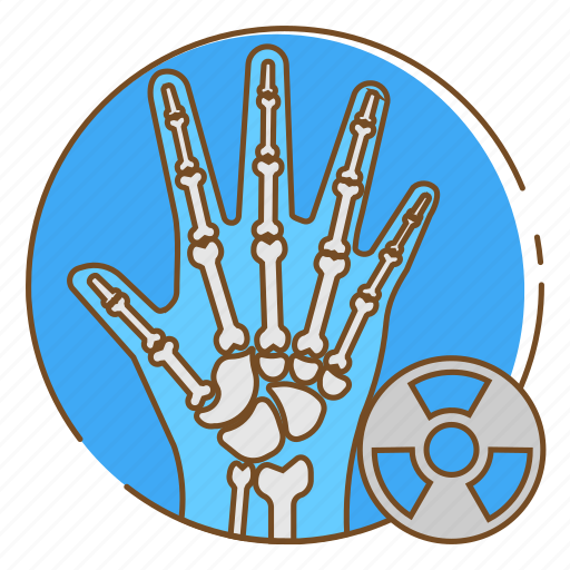 bone, hand, healthcare, medical, xray icon
