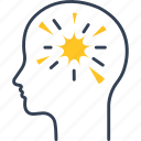 brain, diseases, thoughts icon