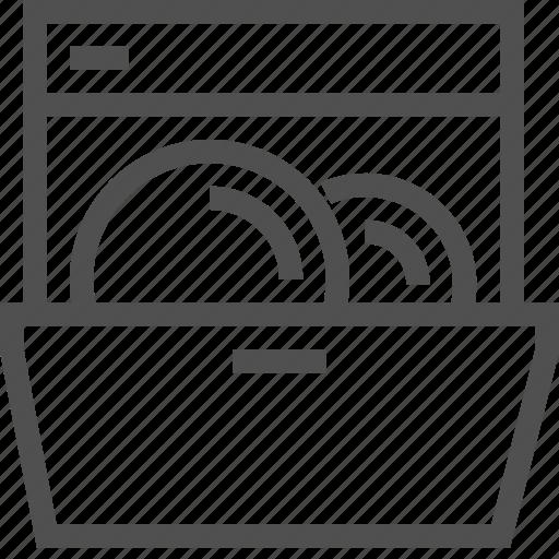 clean, detergent, dinnerware, dishwasher, equipment, plate, utensil icon
