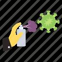 aerosol, cleaning, disinfectant, hygiene, sanitizing, virus spray icon
