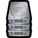 database, disk, drive, hard, stack, storage icon
