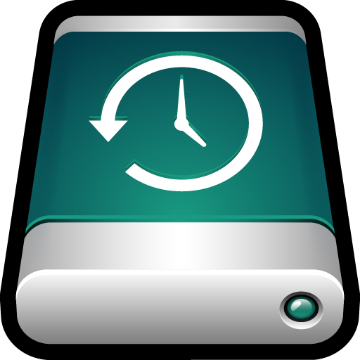 back up, backup, drive, external, machine, storage, time icon
