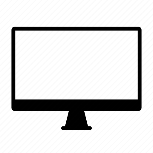 computer, display, edv, it, media icon