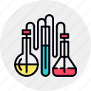chemical, research, test icon