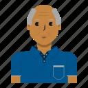 avatar, man, old man, person, user
