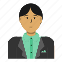 asian, avatar, business, man, person, student, user icon