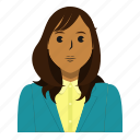 avatar, business, person, student, user, woman icon