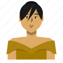 asian, avatar, fashion, person, user, woman icon