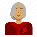 asian, avatar, old woman, person, user, woman icon