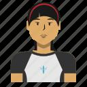 asian, avatar, person, sport, user, woman icon