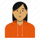 asian, avatar, person, student, user, woman icon