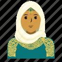 avatar, eid mubarak, fashion, muslim, person, user, woman icon
