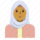 avatar, muslim, old woman, person, user icon