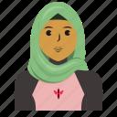 avatar, muslim, person, sport, user, woman icon