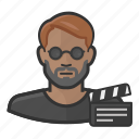 cinema, dark, director, man, movie, skin icon