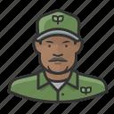african, environmentalist, man icon