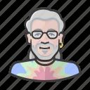 artist, deadhead, dye, earring, hippie, tie icon
