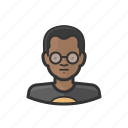 african, boy, child, glasses, kid icon
