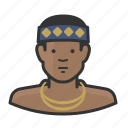 headdress, man, traditional, tribesman icon