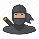 assassin, japanese, man, ninja, sword icon
