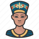 egypt, nefertiti, queen icon