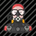 diver, scuba, woman
