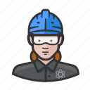 hardhat, plant, goggles, nuclear, woman