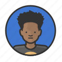 african, afro, boy, young