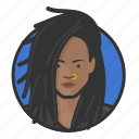 ring, girl, african, nose, dreadlocks, dreads icon