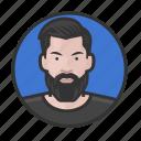 beard, caucasian, hipster, man icon