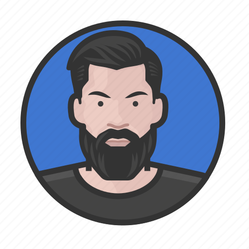 Beard, caucasian, hipster, man icon - Download on Iconfinder